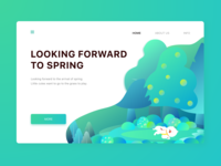 Looking forward to spring - Web #02
