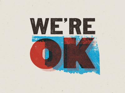 We're OK ok oklahoma texture red cross tornado