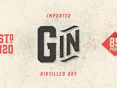Gin Specimen gin hold fast type specimen texture vintage liquor