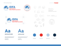 IDFA Branding ui web agency vector type brandguide mockups idenity dc engage milk dairy idfa logo brand
