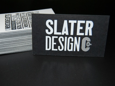 Co. Cards letterpress foil stamped wood type design business card mama sauce