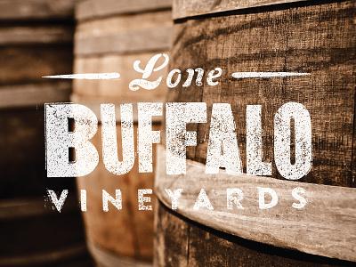 lone buffalo wine buffalo vineyard bison heart sirah branding stationary cork barrels texture letterpress
