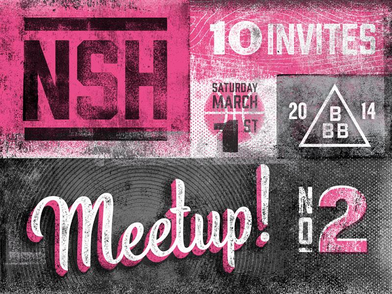 Nashville Meetup No. 2 meetup dribbble nashville texture invites giveaway vintage tennessee prospect grit draft
