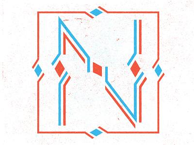 Live Typefight Letter 'N' letter typefight texture lines angles ornate vintage specimen slater