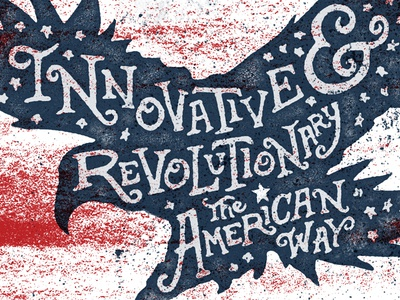 Independence Day independence day 4th of july texture hand type grit eagle ampersand usa america