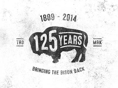 Smithsonian Zoo • 125 Years Bison Mark bison zoo smithsonian texture grit mark logo