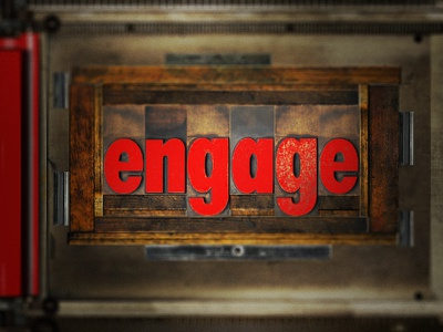 I Joined Engage! engage dc agency team ba2024 letterpress texture lockup