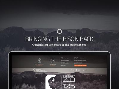 Bringing The Bison Back bison zoo smithsonian logo web menu ui mockup slider