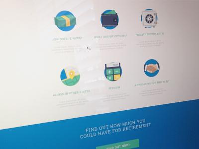 Icons web design blocks icons 401k pension money wallet safe