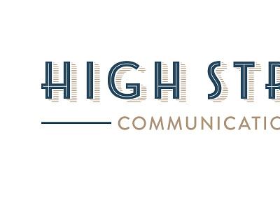 HSC Branding branding logo mark monogram type art deco shadow type lines gold