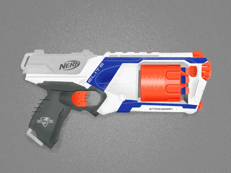 The Strongarm Elite working remote office air gun elite illustration texture gun nerf