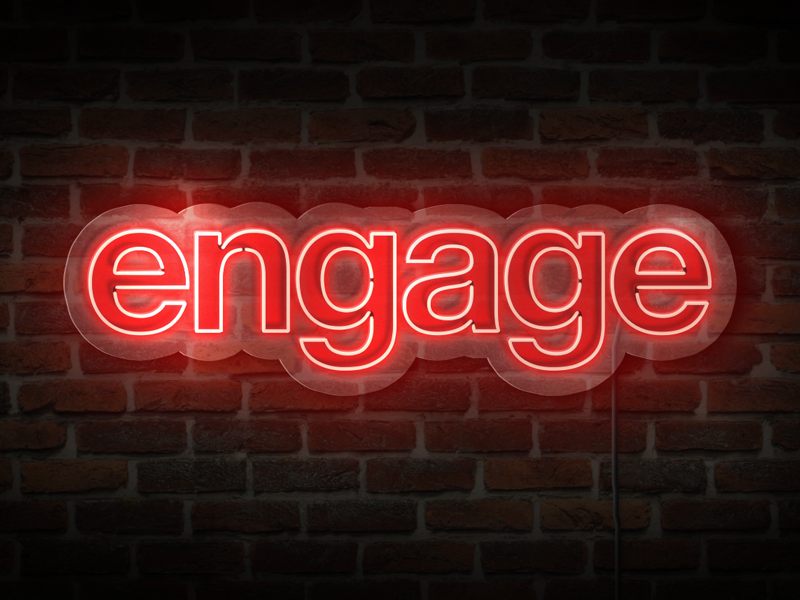 Neon Signage dc decor office culture brand logo engage sign neon