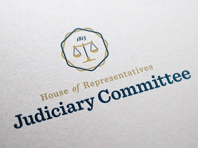 Judiciary Committee Branding engage committee judiciary representatives house scales justice law branding logo