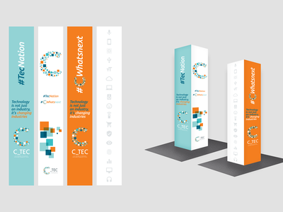 C_TEC Branding u. chamber engage tech c logo design branding