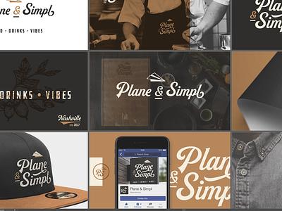 Plane & Simpl drinks concept nashville deliverable artboard branding establishment eatery restaurant vibes food bar