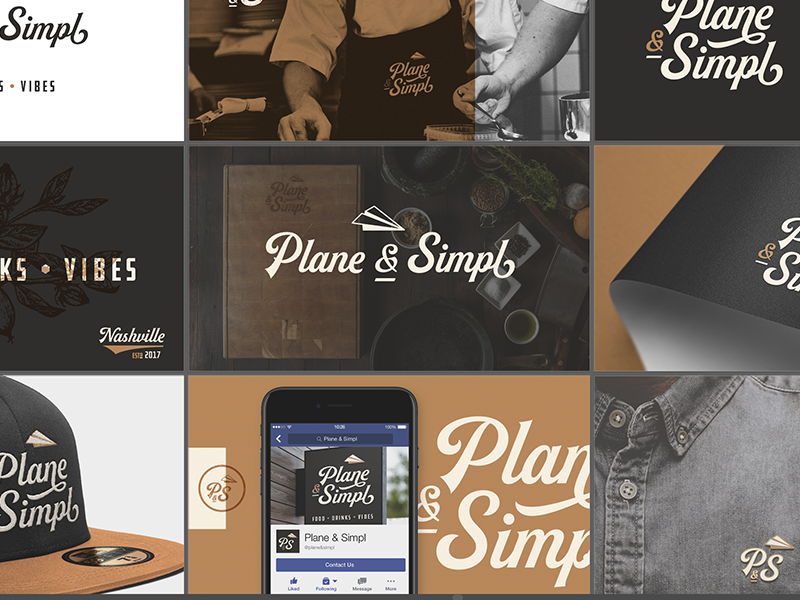 Plane & Simpl drinks concept nashville deliverable artboard branding establishment eatery restaurant vibes food bar