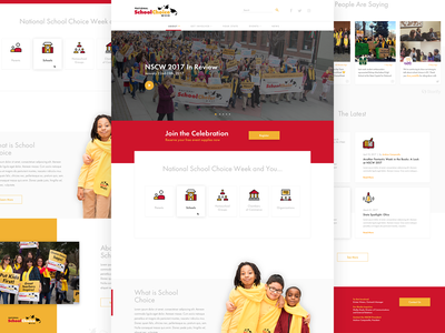 National School Choice Week Homepage celebration school education ui web agency design