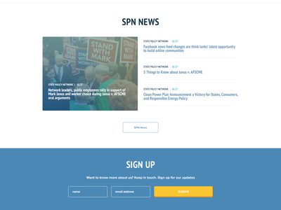 State Policy Network 2.0 ux web design policy ui web design homepage agency