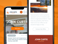 Congressman John Curtis Mobile Homepage