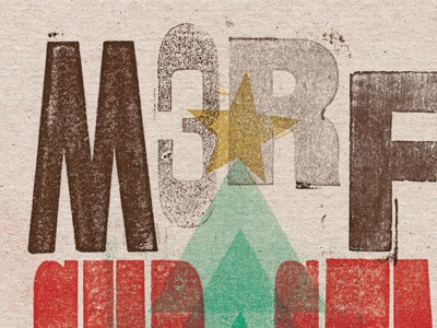 M3rry Christmas! revival texture christmas wood type
