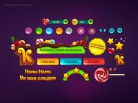 Сaramel game  GUI elements