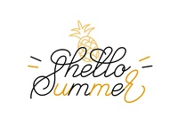 Hello Summer Calligraphy
