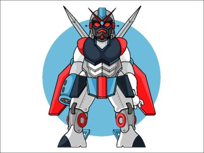 Gundam vector illustrator illustration art character design robô japan gundam robot