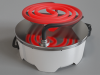 Hot plate - product render