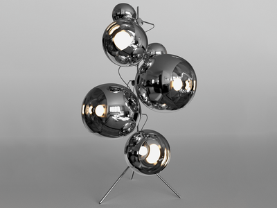 Tom Dixon Mirror Balls on stand