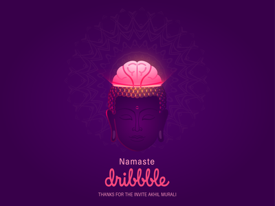 Namaste Dribbble illustration