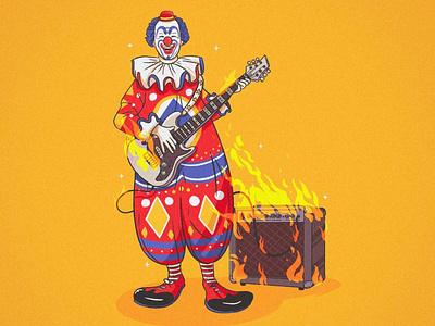 🤡🔥 illustration music clown fire