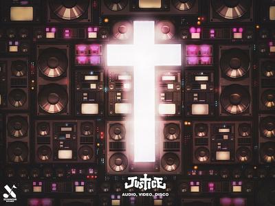 JUSTICE - AUDIO VIDEO DISCO disco dj music ed banger justice