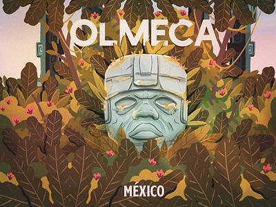OLMECA mexico city logo flowers plants mexicano mexican mexico