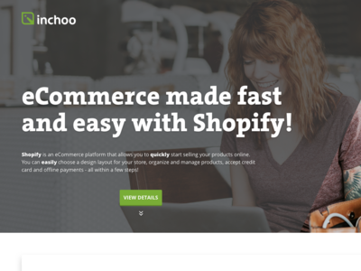 Landing page for a service
