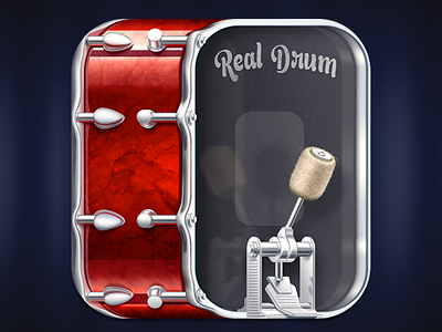 Real Drum bass icons rhythm aroundthebear icon ios ipad iphone apps music drum
