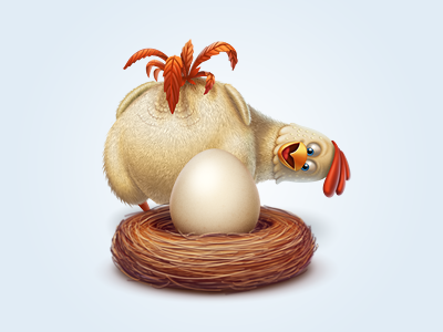 Chicken Or The Egg icon food image eye-candy chicken egg virtual gift dualism icons aroundthebear nest