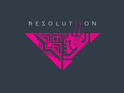 Resolutiion Logo v1.0 typography vector video game gamedevelopment indie dev gamedev logodesign logotype logo design resolutiion branding logo