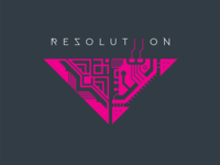 Resolutiion Logo v1.0 typography vector video game gamedevelopment indie dev gamedev logodesign logotype logo design resolutiion branding logo