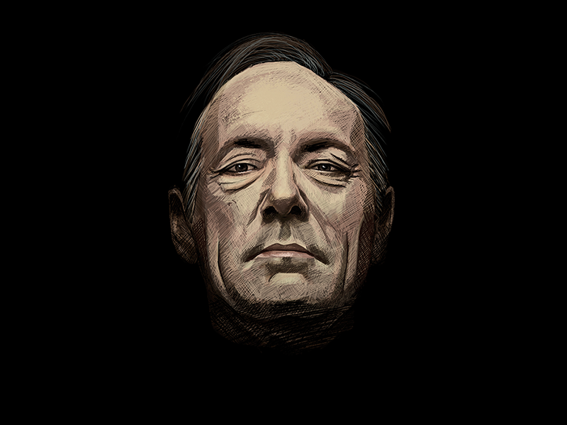 Frank Underwood house of cards frank underwood photoshop painting art digital portrait illustration