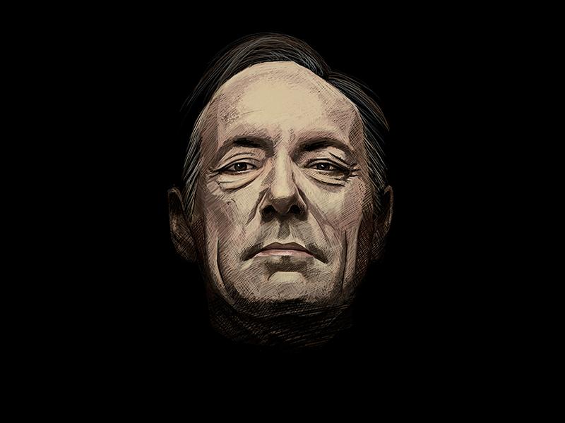 Frank Underwood house of cards frank underwood photoshop painting art digital portrait illustration