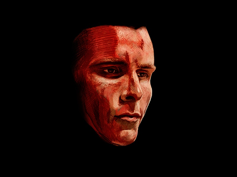 Patrick Bateman american psycho patrick bateman photoshop painting art digital portrait illustration