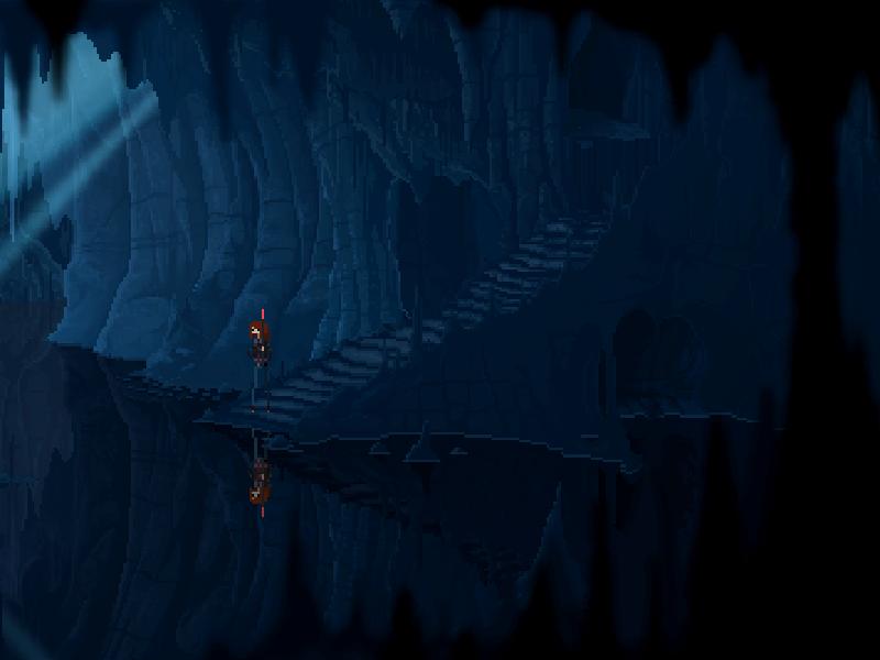 Caves design background art pixel gamedev video game videogame pixel art