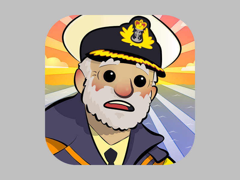 Risk Ahoy! Icon process game app design illustration icon