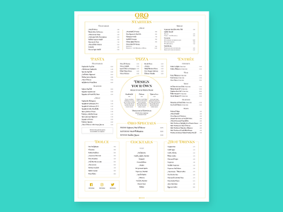 Oro Outdoor Menu
