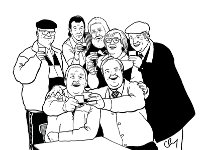 Still Game line art still game glasgow scottish scotland broons comic illustrated illustration digital photoshop