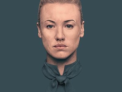 Serena Joy realism handmaids tale digital illustration digital procreate portrait art illustration
