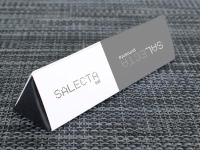 Salecta salt packaging cardboard ecological