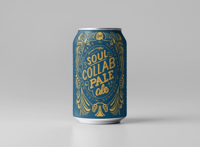 Hand drawn craft beer can design