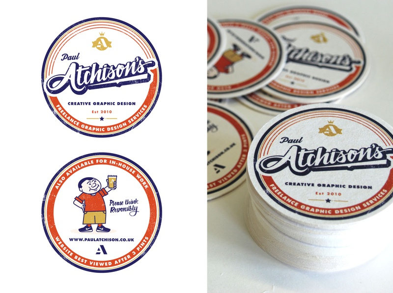 Promotional beer mats