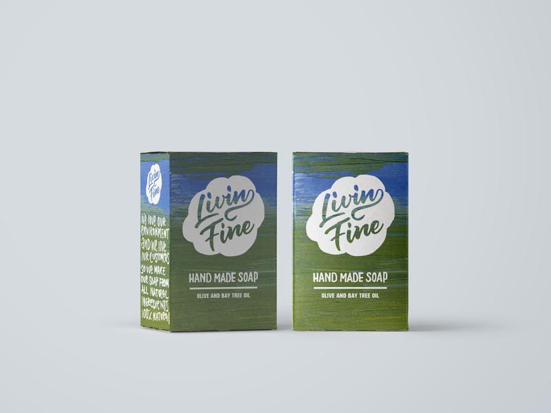 Natural soap mock up concept